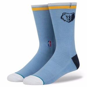 STANCE NBA Grizzlies Arena Core Blue Pique Socks L